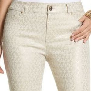 Chico's Stunning Gold Ankle Pants Size 10 Jeans